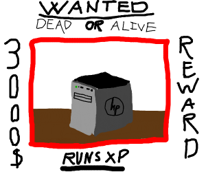 Wanted sign for windows xp pc