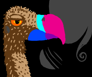 Bored vulture