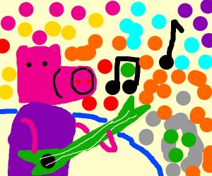 Pig as a rock star