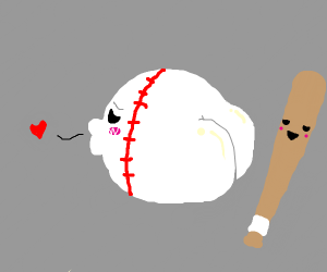 Baseball with a butt