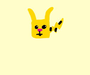 Pikachu but as a square