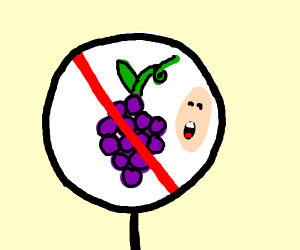 You CANT eat the grapes