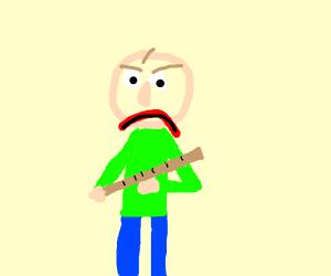 Baldi is angry