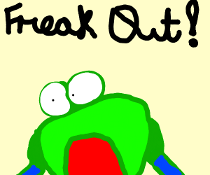 Pepe is freaking out