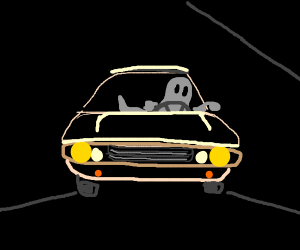 Ghost driving a car