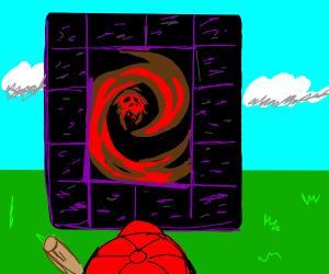 Giygas becomes a nether portal