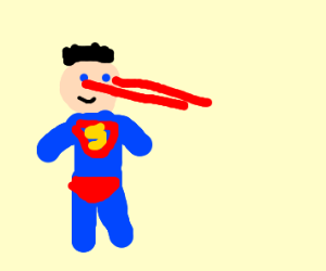 superman shoots lazers out of eyes