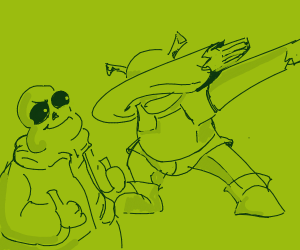 Sans approves of Shrek dabbing