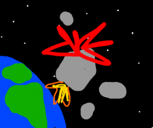 Rocket explodes above Earth