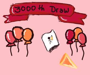 3000th drawing congrats