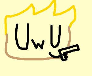 UwU pulling out a gun