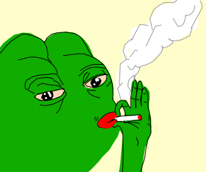 Pepe smoking weed