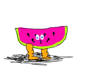 watermelon slice doesnt skip leg day