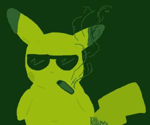 pickachu smokes a JUUL