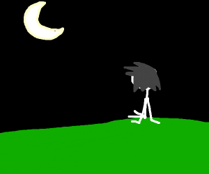 A guy looking at the moon