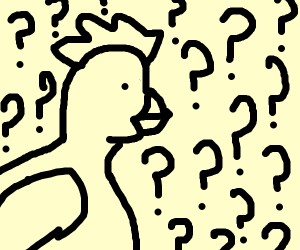 confused chicken (curious c0ck??)