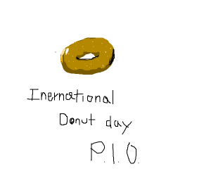 International donught week PIO