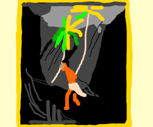 beautifully painted poor man in a jungle