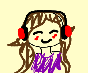 A cool DJ with brown hair and purple shirt