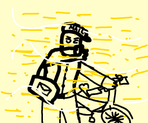 Mailman in a Dust Storm