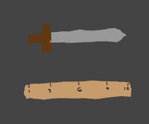 1 foot long sword