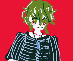 Guy with green hair (not deku, u weeb)