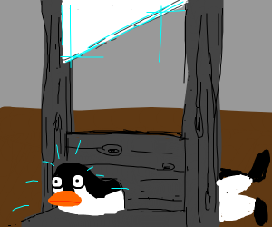 Pengouin is going to be guillotined