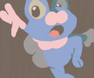 Froakie jumping