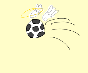 Flying with a Soccer Ball