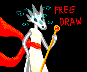 Free Draw, the last panel is God's true form