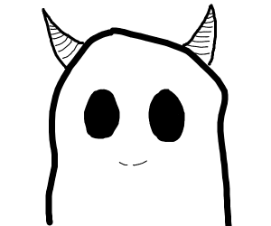 Ghost with horns