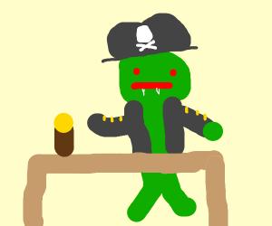 Pirate goblin at a pub