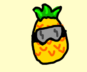 Pineapple wearing Goggles