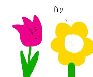 flower in love