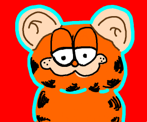 garfield with human ears