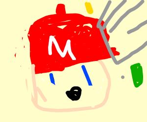 Angelic mario: trashcan attack