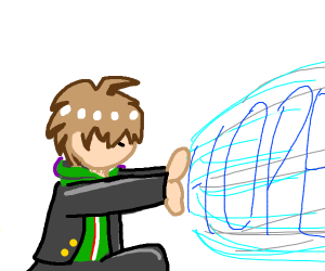 Makoto Naegi uses hope powers!!