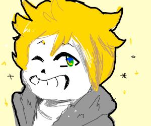sans but a blonde anime dude