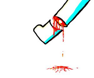 cutting off a leg