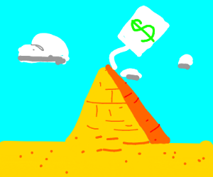 Pyramid with a price tag