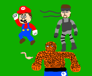 Mario snake worm thing