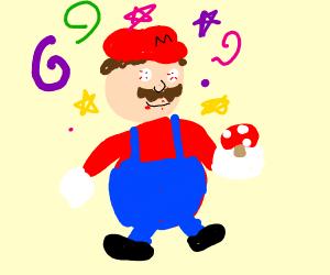 Mario high on mushrooms