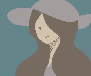 Marceline the vampire Queen wearing a hat