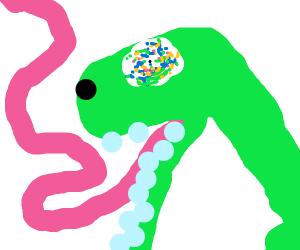 baby brontosaurus on acid