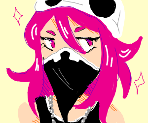Female anime Ninja with pink hair