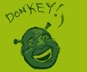 shrek excited to see donkey