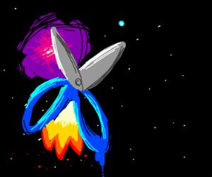 scissor spaceship