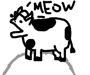 a cow meowing