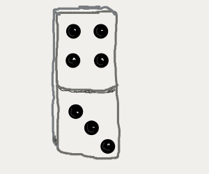 An intimidating, photorealistic domino.