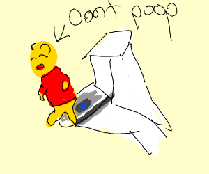 Winnie The Pooh is constipated